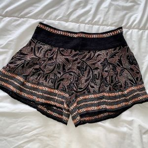 Free People Day Casual Tribal Shorts